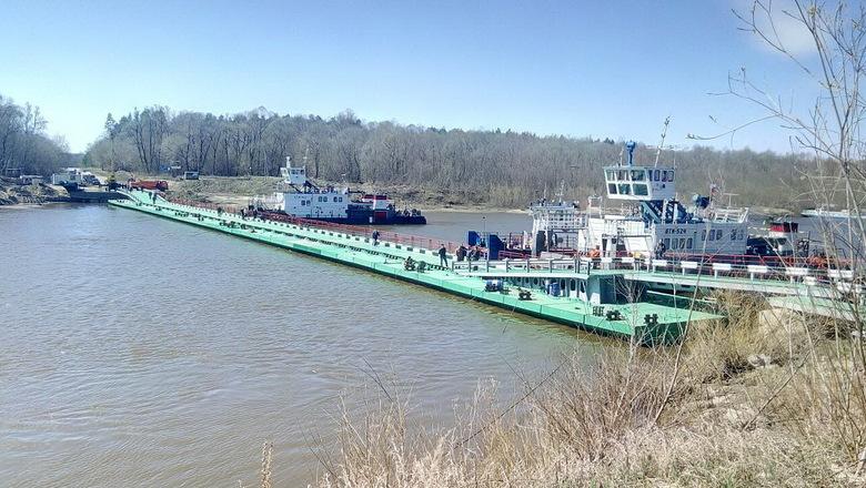 В Пильнинском районе после ремонта открыли наплавной мост через Суру