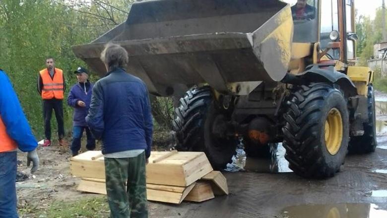 ВНижнем Новгороде появилась нелегальная свалка гробов